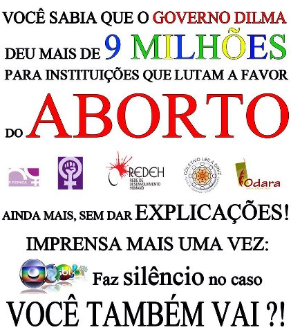 dilma e o aborto